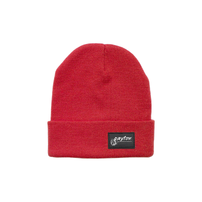 Payton Patch Beanie Red