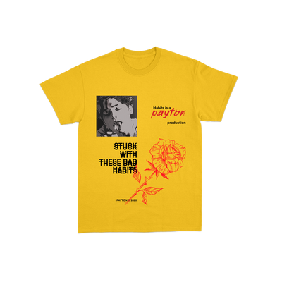 Official Payton Habits Tee - Yellow
