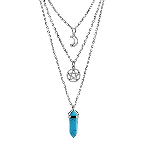 Moon Pentagram Necklace