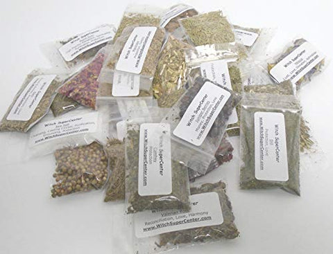 Wicca or Hoodoo Herb Spell Kit - 30 Witchcraft Herbs + Magickal Herbs eBook