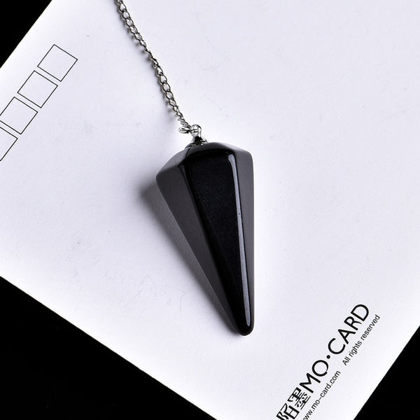 Natural Crystal Conical Pendant for Divination