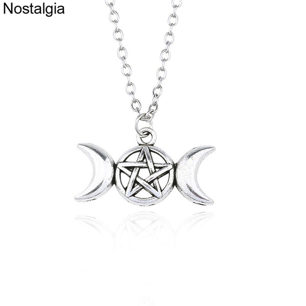 Wiccan Triple Moon Necklace