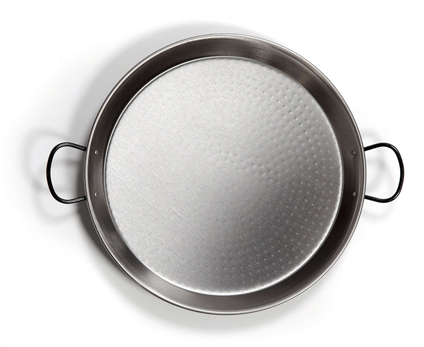 Authentic Polished Steel Paella Pans from 10 in to 28 in