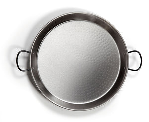Paella Kit - 20 servings Polished Steel Paella Pan Kit - 24 inch (60 cm)
