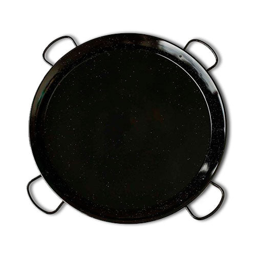 Paella Pan - Enameled w/ 4 Handles - 32 inch (80 cm) / 40 servings -