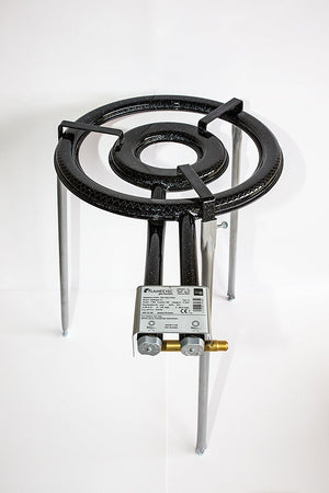 Paella Burner T460 - Professional Outdoor,  2 rings by Flames VLC with long adjustable legs