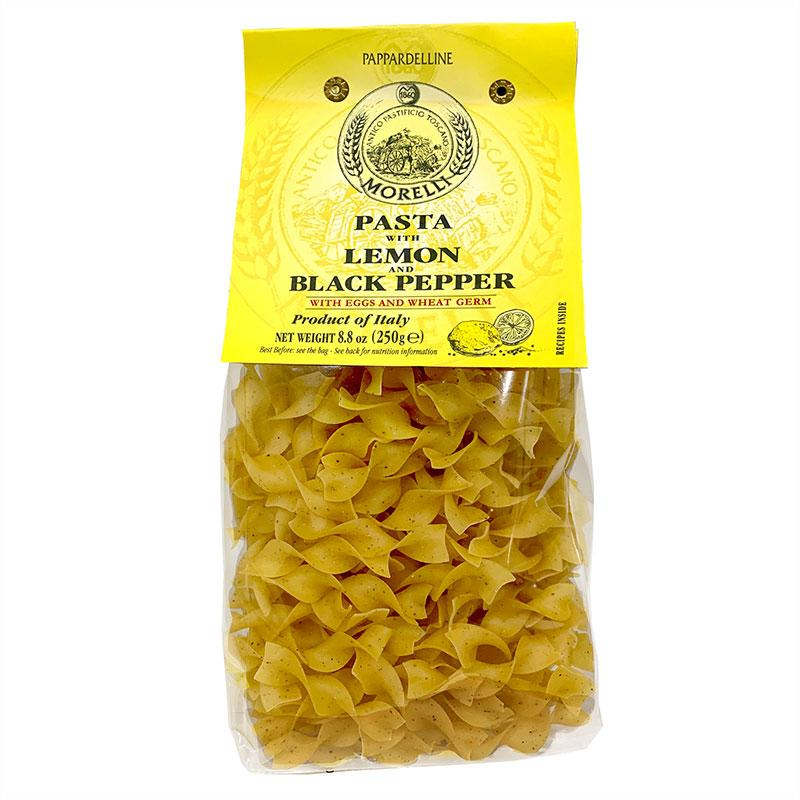 Pappardelline with Lemon & Black Pepper Egg Pasta by Morelli