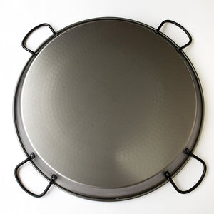 Paella Pan - Polished Steel w/ 4 Handles - 32 inch (80 cm) / 40 servings