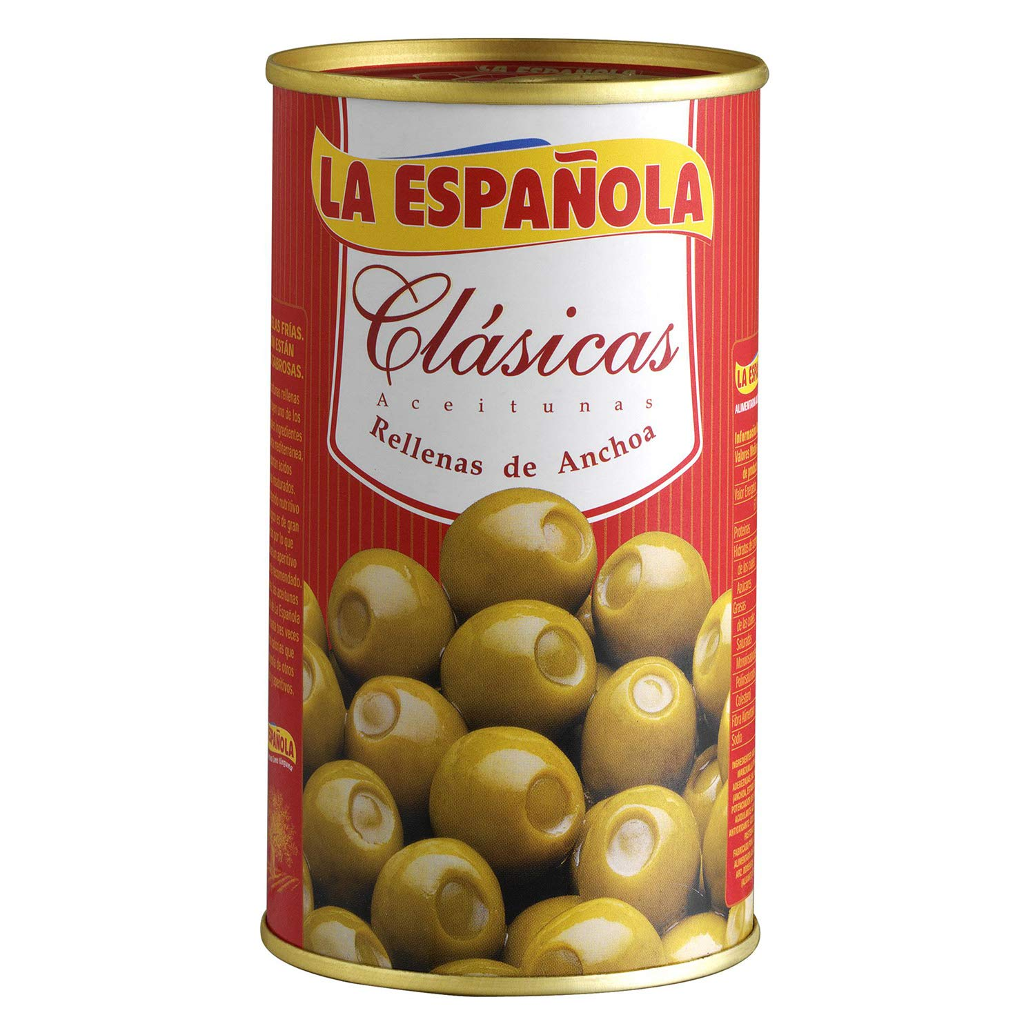 Classic Green Olives Stuffed with Anchovies by La Espanola - 12.3 oz( 350 g)
