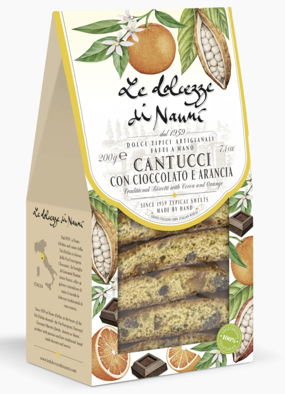 Traditional Biscotti Cantucci with Cocoa and Orange by Dolcezze di Nanni, Tuscany