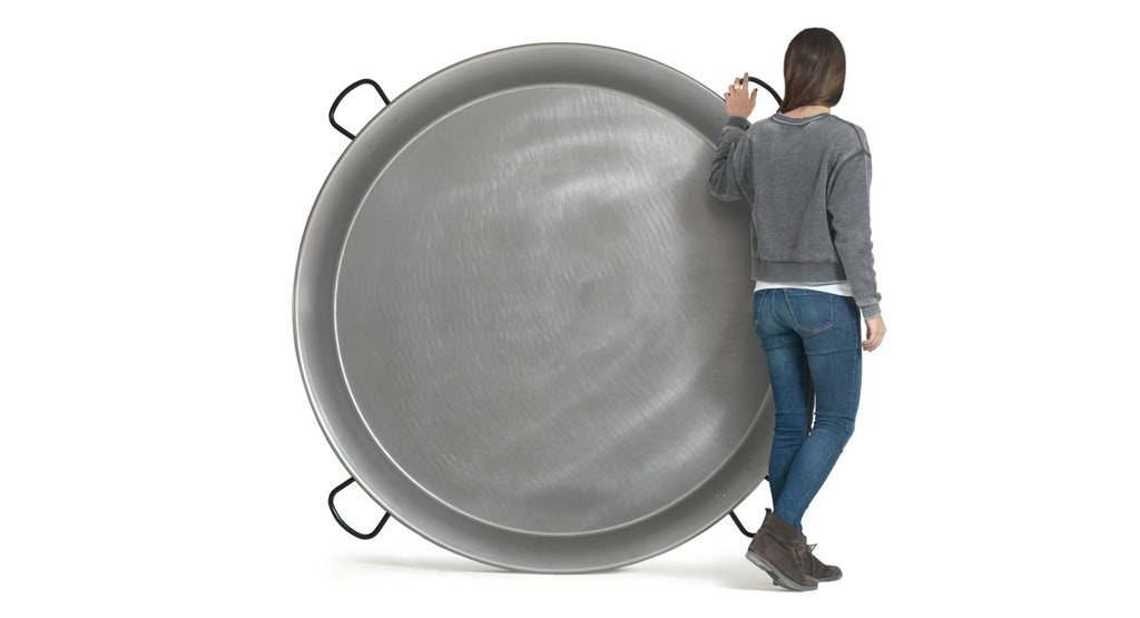 Large Paella Pan - Polished Steel