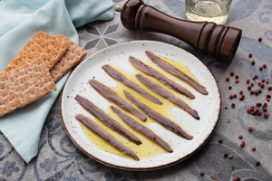 Anchovy Fillets in Olive Oil by Agromar - 4 oz (100 g) glass jar