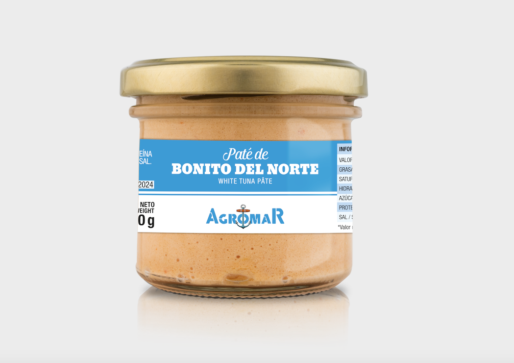 White Tuna Pate by Agromar  - 3.5 oz (100 g) glass jar