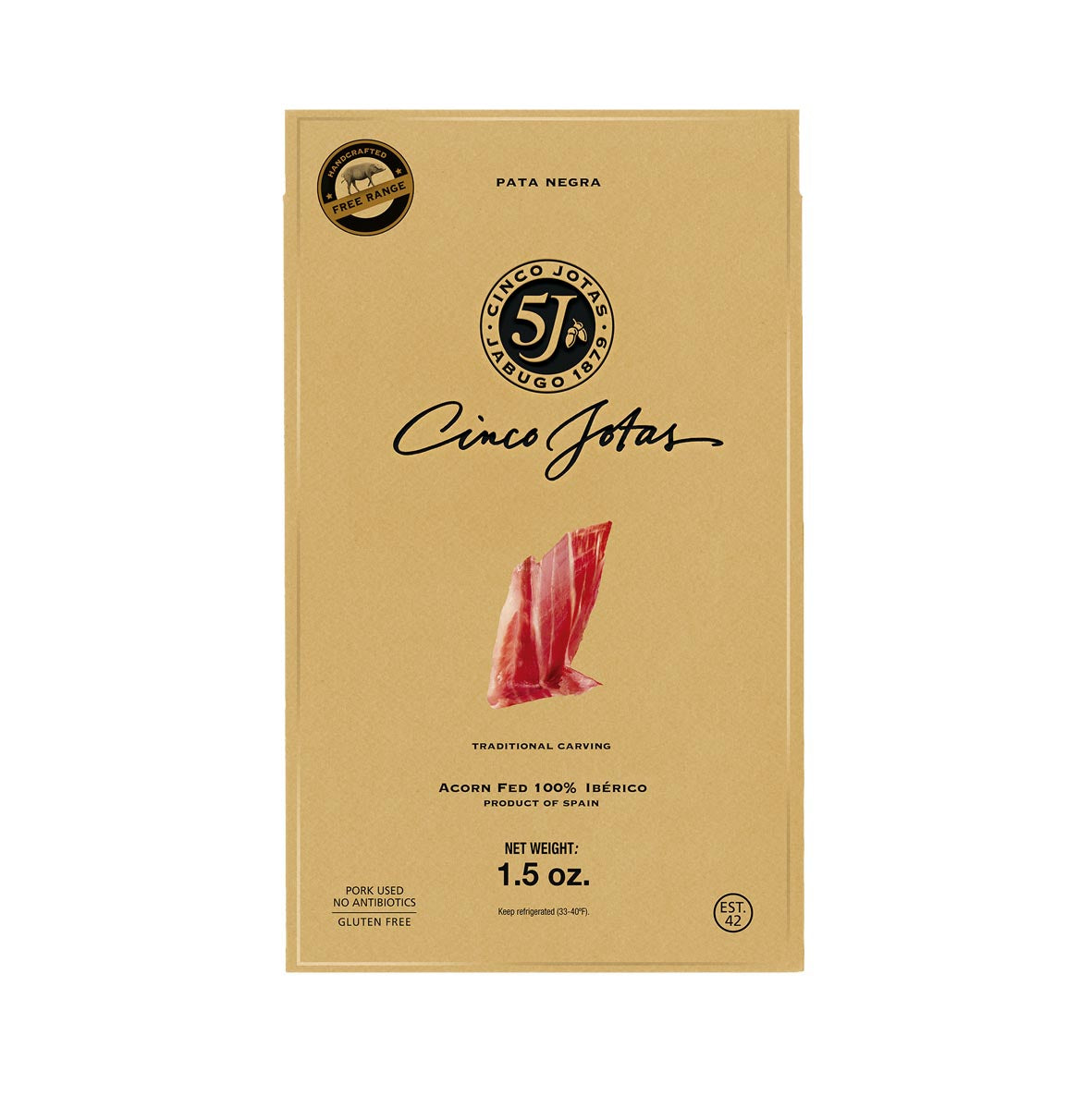 Cinco Jotas Acorn Fed Premium Taste 100% Iberico Pork Shoulder (Traditional Carving) - 1.5 oz. by Castevia Imports