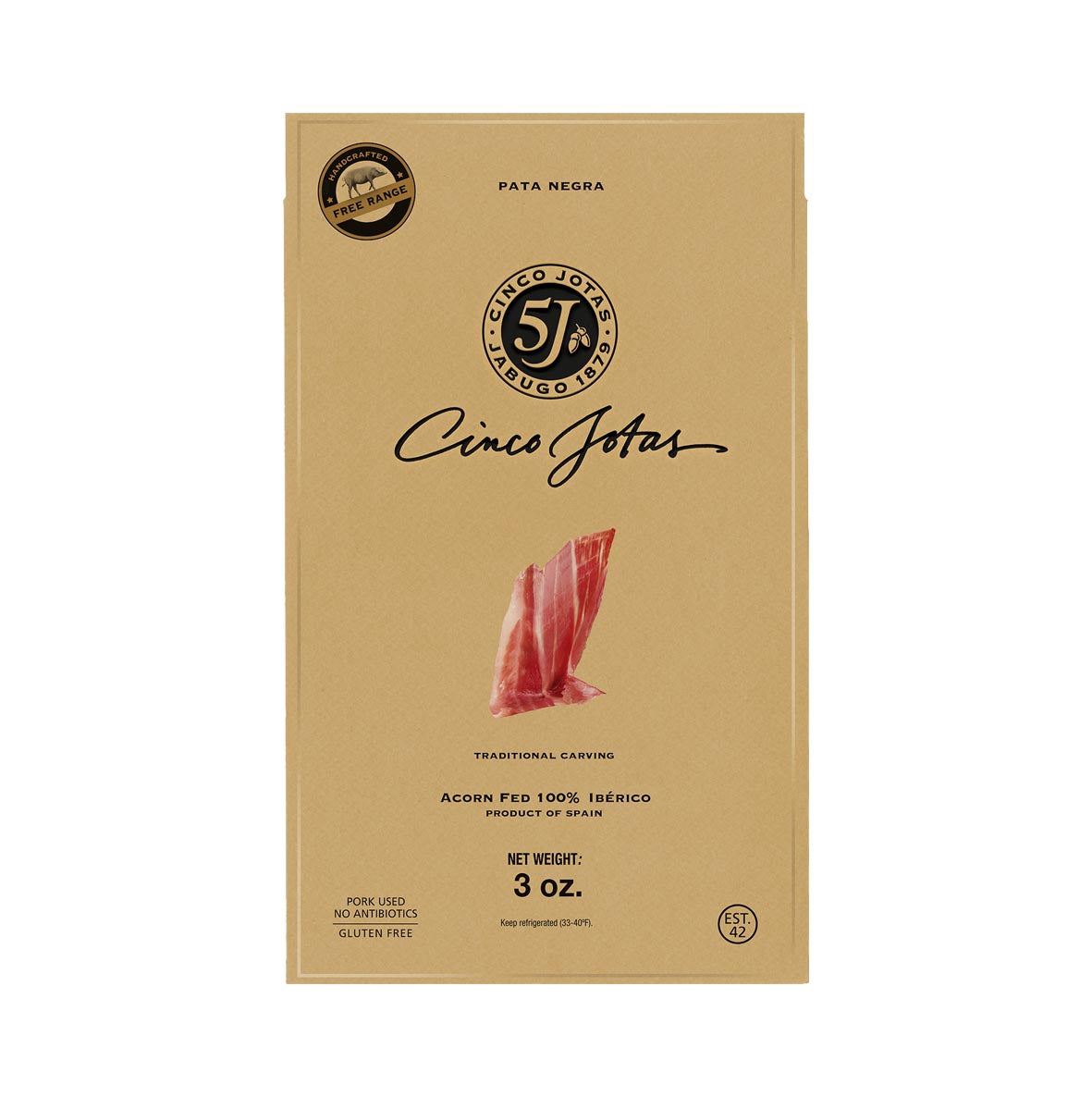 Acorn Fed Premium Taste 100% Iberico Pork Shoulder (Traditional Carving) by Cinco Jotas  - 3 oz