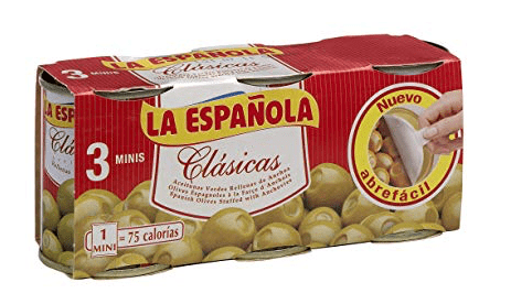 La Española Spanish Olives Stuffed with Anchovies - minibar 3-pack