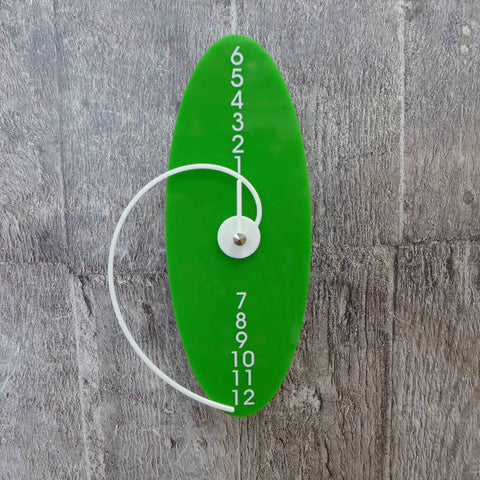 Robert Darwen - Green Oval Clock