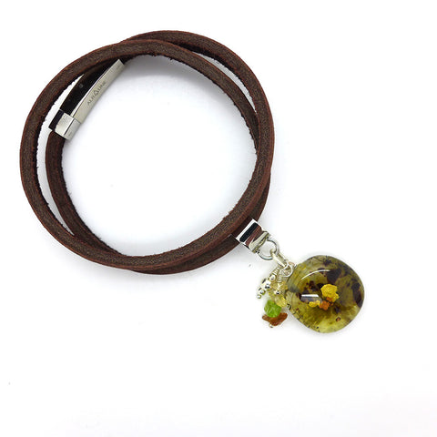 Amy Christie - Sage Leather Bracelet