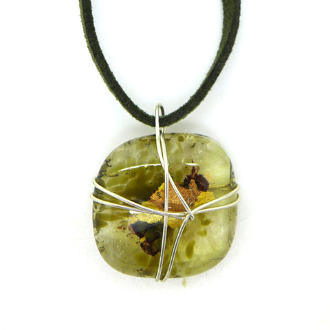 Amy Christie - Sage Glass Pendant