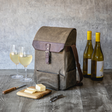 2 Bottle Insulated Wine & Cheese Cooler Set