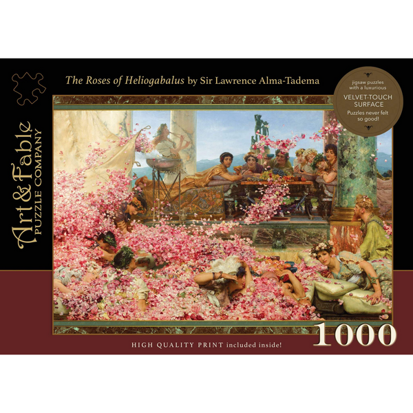 The Roses of Heliogabalus Velvet-Touch Puzzle - 1000 pieces