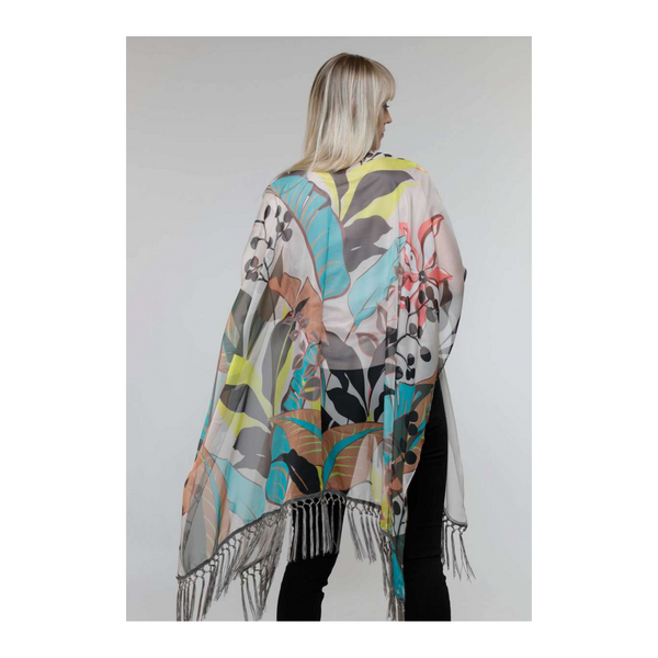 Tropical Taupe Poncho