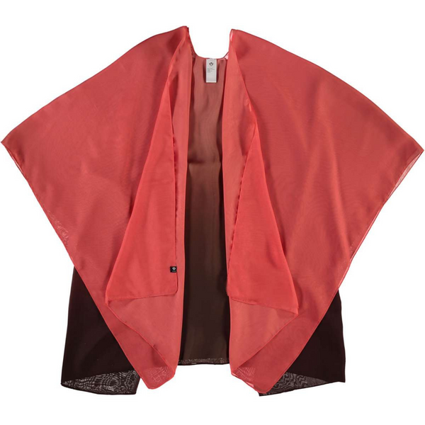 Ombre Red Poncho