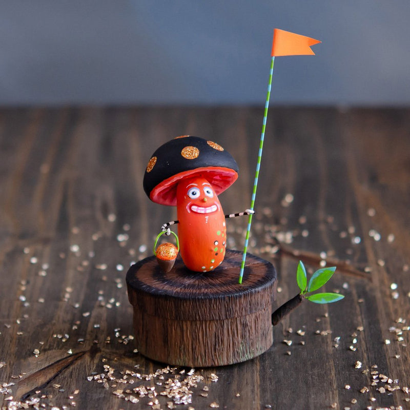 Mushroom Man on a Stump Favor Box by Glitterville