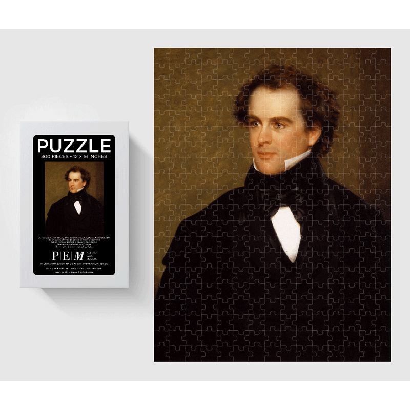Portrait of Nathaniel Hawthorne PEM Puzzle - 300 Pieces