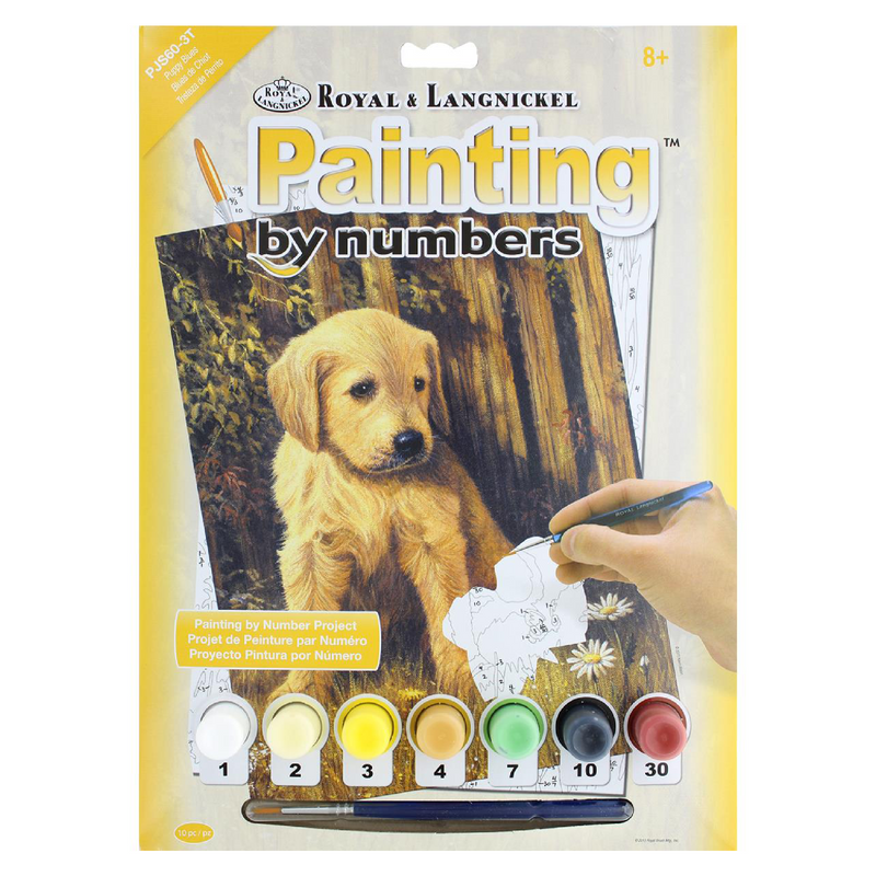 The Puppy Blues Paint by Numbers - Small