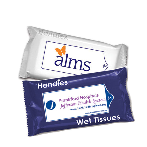2 packs of Handies 10-Pack Wet Tissues