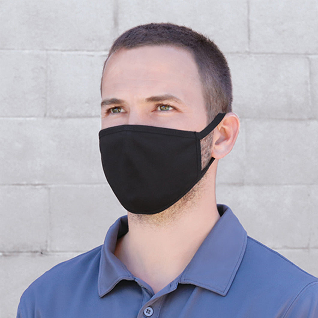 Man wearing a Cotton and Spandex Face Mask