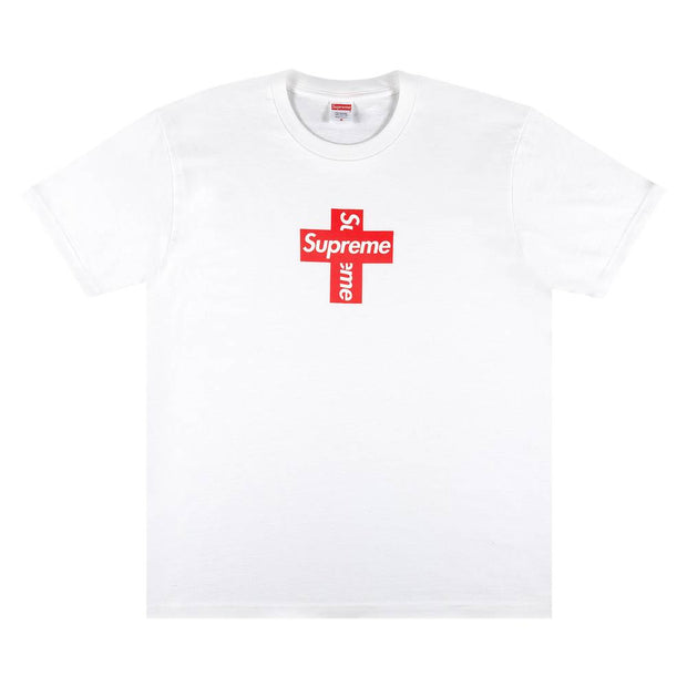 "Supreme ""Cross Box Logo"" Tee (White) (2020)"