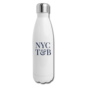 White Insulated Stainless Steel Water Bottle - white