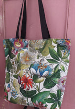 Load image into Gallery viewer, Passiflora Antique Print Small Tote / Shopping Bag