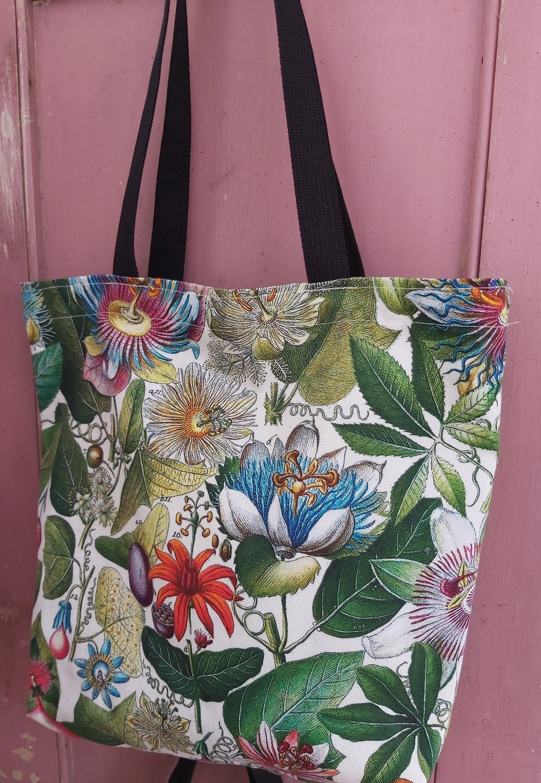 Passiflora Antique Print Small Tote / Shopping Bag