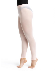 Footless Tight w Self Knit Waist Band