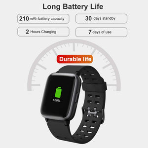Smart Watch for Android and iOS Phone - Black