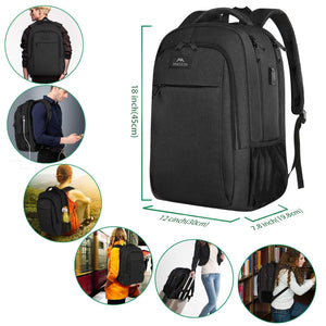 Travel Laptop Backpack - 15.6 Inch - Black Charcoal
