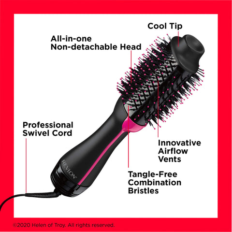 Image of One-Step Hair Dryer - Volumizer - Black