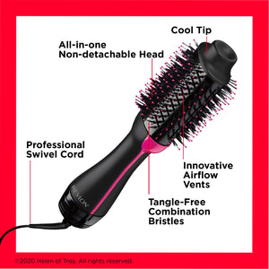 One-Step Hair Dryer - Volumizer - Black