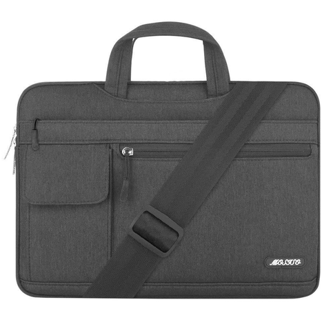 Laptop Shoulder Bag - Black