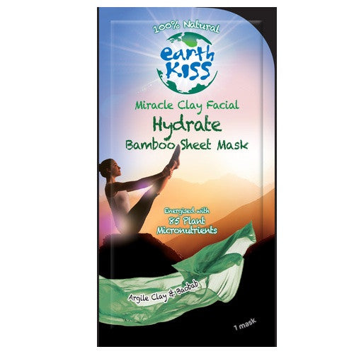 Hydrate (Miracle Clay Facial) Bamboo Sheet Mask 1 stuk - Earth Kiss