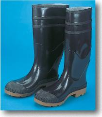 "16"" PVC Sock Boot Black"