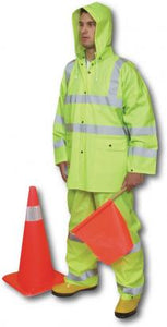 ANSI Class 3 Three Piece PVC Rainsuit