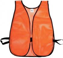Orange Soft Mesh Safety Vest - Plain
