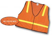 ANSI Class 1 Surveyor Vest Mesh Back With Pockets