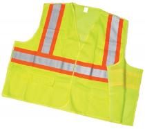 ANSI Class 2 Lime Mesh Tearaway With Pockets