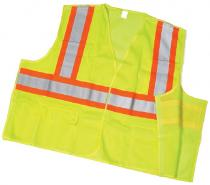 ANSI Class 2 Lime Solid Tearaway With Pockets