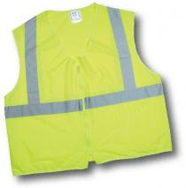 ANSI Class 2 Lime Solid Non Durable Flame Retardant Vest